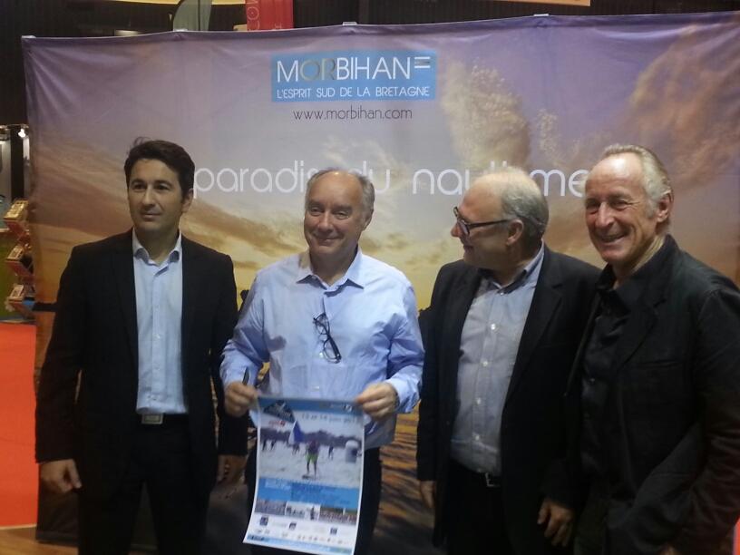 Philippe Mirkovic,Directeur de Ouest-France Morbihan, Thierry Verneuil, PDG de BIC Sport,Jean-Paul Boucher, Directeur de Ouest-France, Gérard Fusil